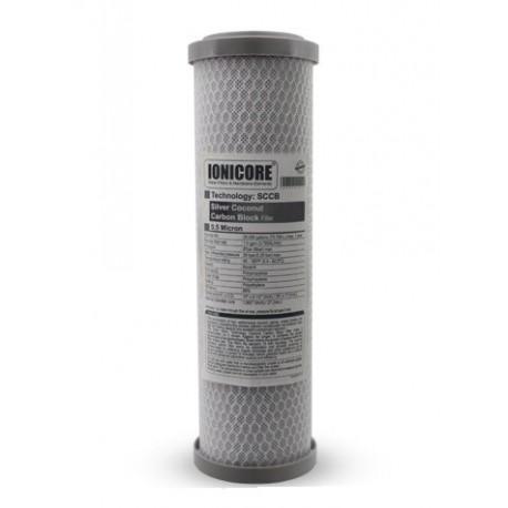"""Cartuccia Battereostatica Carbon Block microfiltrazione da 0.5 micron - 10"""""""